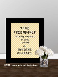Gift for Best Friend  Wall Decor, Quote Printable Art , Inspirational Framed Quotes Print, Friendship Definition INSTANT DOWNLOAD