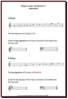 Major Minor Scale Matchup Free Worksheet | Music Matters Blog