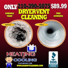 Vent Duct, Clean Dryer Vent, Vent Cleaning, Heating And Cooling, San Antonio