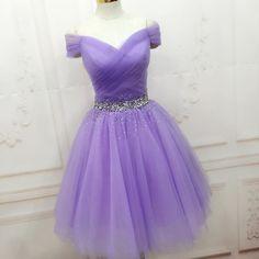 Elegant Prom Dress, Tulle Prom Dress,Short Prom