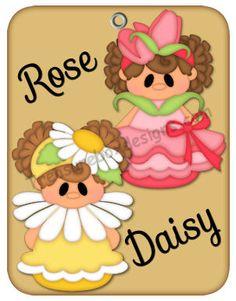 Petal Pals (Rose & Daisy) - Treasure Box Designs Patterns & Cutting Files (SVG,WPC,GSD,DXF,AI,JPEG)