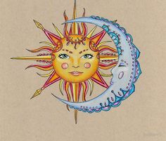 sun and moon (drawing)