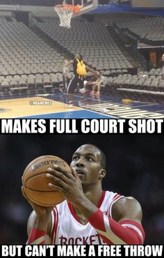 in NBA and can't make free throw Funny Nba Memes, Funny Basketball Memes, Funny Sports Quotes, Nfl Memes, Basketball Quotes, Basketball Pictures, Basketball Legends, Stupid Funny Memes, Sports Humor