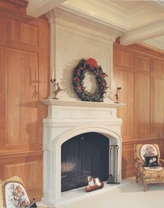 """Stone Magic - Fireplace Designs """"Provence"""" model fireplace surround with exended upper mantel and flat hearthstone. Stone Fireplace Surround, Stone Fireplace Mantel, Classic Fireplace, Craftsman Fireplace, Traditional Fireplace, Fireplace Mantle, Fireplace Design, Stone Fireplaces, Fireplace Ideas"""