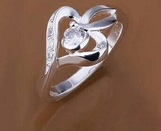silver Rings Jewelry Wedding Gift for women woman >>> This is an Amazon Affiliate link. Details can be found by clicking on the image.