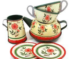 50's tin tea set.