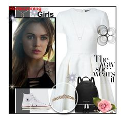 """""""Homecoming"""" by princess-erika15 ❤ liked on Polyvore featuring Alexander McQueen, Tiffany & Co., Converse, MICHAEL Michael Kors, Chrome Hearts, women's clothing, women's fashion, women, female and woman"""
