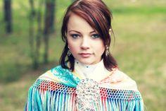 A Sami Girl in Traditional Dress in Karasjok, Norway...Smithsonian  www.liberatingdivineconsciousness.com