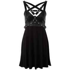 Enchantment 4-Play DRESS ($84) ❤ liked on Polyvore featuring dresses and faux-leather dress