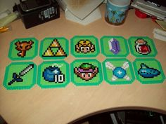 Legend of Zelda costers perler beads