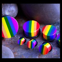 Brand new size 6g rainbow plugs Brand new size 6g rainbow plugs pair Jewelry Earrings
