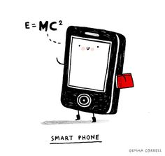 Smart phone by Gemma Correll