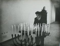 """Fellini on the set of """"8 ½"""", photo by Tazio Secchiaroli."""