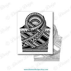 Half Sleeve Polynesian Tattoo Wrap Around Shoulder to Elbow with Stencil/Template - Instant Digital Polynesian Tattoos Women, Polynesian Tattoo Designs, Maori Tattoo Designs, Mayan Tattoos, Tribal Tattoos, Geometric Mandala Tattoo, Mandala Tattoo Design, 1 Tattoo, Samoan Tattoo