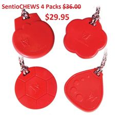 L☺☺King for great price on a chewy/chew necklace? $AVE >GET Tougher-than-Silicone SentioCHEWS Red 4 Packs ♥2 Choices $29.95 each http://kidcompanions.com/product/sentiochews-red-4-pack-choices/   #pediOT #specialNeeds #ASD