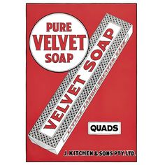 Velvet Soap Advertisement | Print