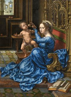 Jan Gossaert or Jan Mabuse — Madonna and Child European Paintings, Small Paintings, Italian Renaissance, Renaissance Art, Jan Gossaert, Robert Campin, Queen Of Heaven, Mama Mary, Blessed Mother Mary
