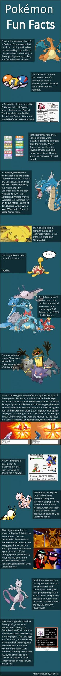 Pokemon Facts Compilation ! :D