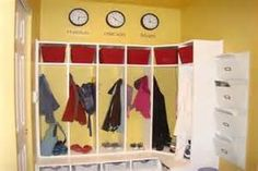 Furniture, Mudroom Storage Bench Ideas: The Right Mudroom Furniture that you should have at Home Mudroom Bench Plans, Mudroom Storage Bench, Mudroom Cubbies, Bench With Storage, Locker Storage, Kids Cubbies, Garage Lockers, Red Basket, Wall File