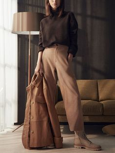 Vince's buy-now, wear-forever fall collection Green Suit, Minimal Fashion, Minimal Style, Slip Skirts, Silk Slip, Fall Collections, Fashion Editor, Office Wear, Fashion Forward