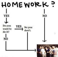 One Direction can always be a substitute for doing your homework!