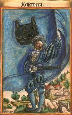 "Kaysersberg [Keiserberg] (f°102) -- Koebel, Jacob, ""Wapen des heyligen römischen Reichs teutscher Nation"", Franckfurth am Main, 1545 [BSB Ms. Rar. 2155]"