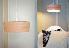 Simple DIY Veneer Pendant Lamp | Shelterness  Yes please, I would have never thought this was made. Could even add a diffuser on the bottom if you don't want a light bulb stairs you in the face. This is a must do!