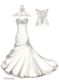 Wedding Dress given as a wedding gift, anniversary gift and bridal gift. http://www.mydreamlines.com/how-it-works/photo-gallery/