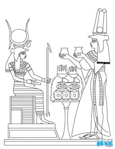 egyptian coloring pages | ANCIENT EGYPT ART coloring page
