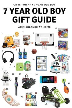 A round up of the best gifts for 7 year old boys with options for boys no matter what your budget is, and what their interests are. Birthday Gifts For Boys, Boy Birthday, Gifts For Kids, Birthday Ideas, Birthday Presents, Happy Birthday, 7 Year Old Christmas Gifts, Christmas Time, Family Christmas