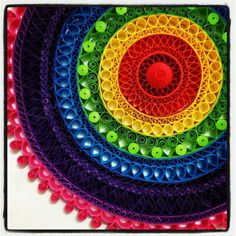 Quilled circle