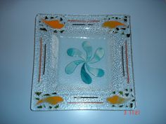 Glass Fusing Projects, Glass Dishes, Fused Glass, Decoupage, Cactus, Angeles, Home Decor, Glass Art, Tejido