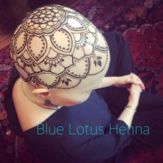 Henna crown for such a wonderful woman. The center of the mandala is based off bike cogs, as she is an avid cyclist.