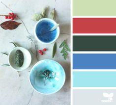 Ceramic Hues via @designseeds