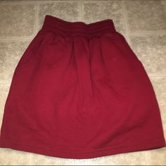 Burgundy skirt  Burgundy American Apparel sweater skirt in Size S. If you have any questions please feel free to ask ❣ American Apparel Skirts