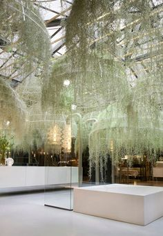 patrick nedeau's hanging art installation jungle