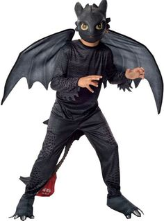 Boys Toothless Dragon Costume - How to Train Your Dragon 2 - Party City