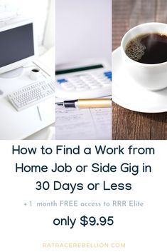 Our Course: How to Find a Work from Home Job or Side Gig in 30 Days or Less Rat Race, Find Work, Work From Home Jobs, Starting A Business, 30 Day, Helping People, 3d Printing, Facebook, Nervous System