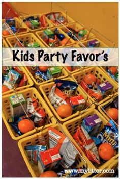 kids party favor snack ideas