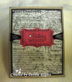All Occasion Tags - Card by Debbie Rogers  http://www.shop.ginakdesigns.com/category.sc?categoryId=97