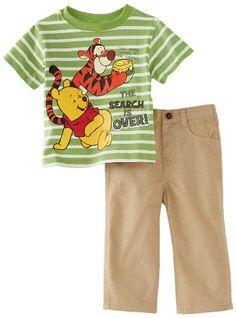 Amazon.com: Disney Baby-Boys Infant Winnie The Pooh Shirt and Woven Pant Set: Clothing