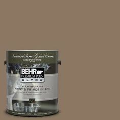 LOVE this color... It's like the perfect grey/brown/taupe  BEHR Premium Plus Ultra 1-Gal. #UL140-5 Coconut Shell Interior Semi-Gloss Enamel Paint-375301 at The Home Depot