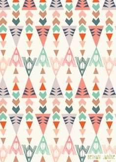 triangles a modern tribal pattern by Bethan Janine