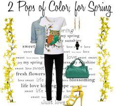 2 Pops of Color, for #Spring