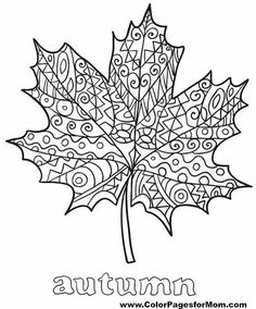 Fall Leaves Coloring Pages, Free Thanksgiving Coloring Pages, Leaf Coloring Page, Coloring Book Pages, Printable Coloring Pages, Coloring Pages For Kids, Coloring Sheets, Free Coloring, Mandala Coloring
