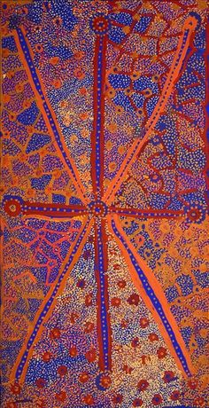 Ngapa Jukurrpa (Water Dreaming)  -  Puyurru by Helen Nampijinpa Robertson