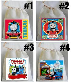 Thomas the Train birthday party favor bags