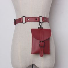 Women Solid Waist Bag Fashion Square Bag Leather Belt Bag, Pu Leather, Fashion Belts, Style Fashion, Fashion Top, Fashion Women, Fashion Trends, Belts For Women, Wallets For Women