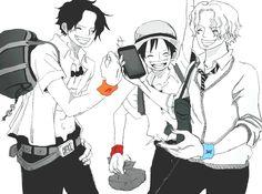 Ace, Luffy, Sabo, One Piece