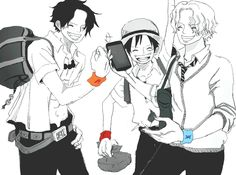 Ace, Luffy, Sabo, One Piece